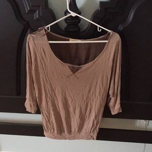 3/4 sleeve top with lace back